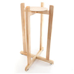 "Floor Wood Stand - 27"" Inch Natural Varnish"