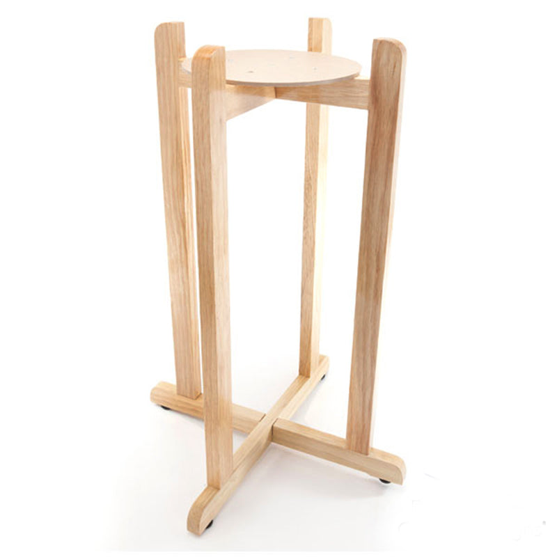"Floor Wood Stand - 30"" Inch Natural Varnish"