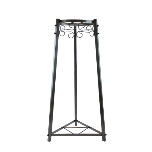 "2 Step Floor Metal Stand - 32"" Inch Metal, Dust Black"