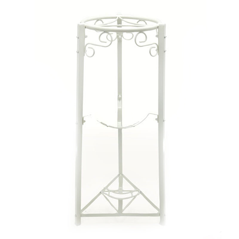 "3 Step Floor Metal Stand - 35"" Inch Metal, White"