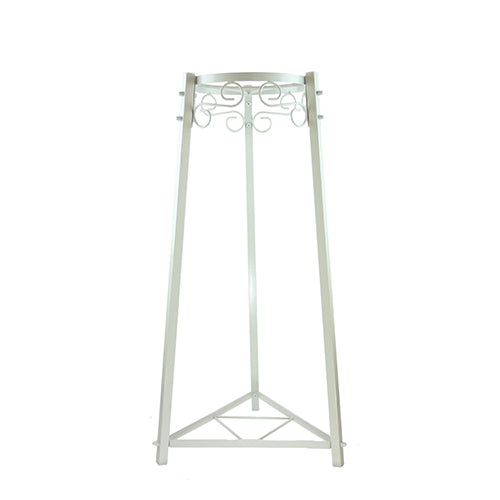"2 Step Floor Metal Stand - 32"" Inch Metal, White"