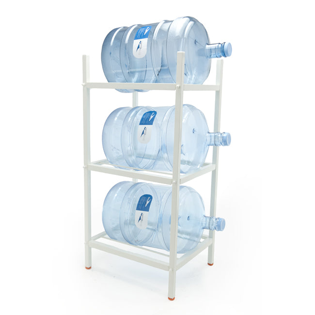 3 Step Metal Bottle Storage Rack - Holds 3 Bottles, White