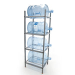4 Step Metal Bottle Storage Rack + Four (4) 5-Gallon Bottles