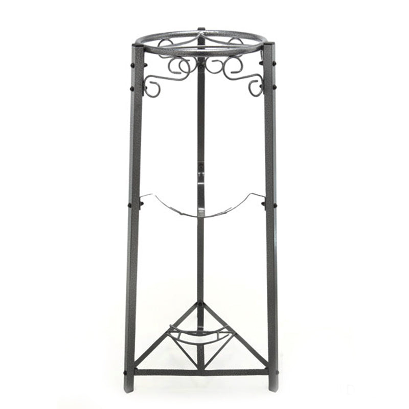 "3 Step Floor Metal Stand - 35"" Inch Metal, Dust Black"