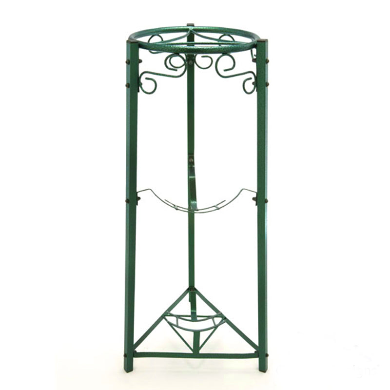 "3 Step Floor Metal Stand - 35"" Inch Metal, Green"