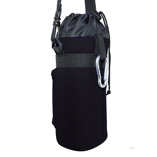 1 Liter Insulated Water Bottle Holder | Carrier Case - Black
