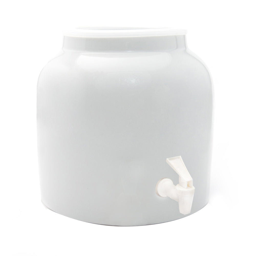 Bluewave Embossed Sunflower Design Beverage Dispenser Crock