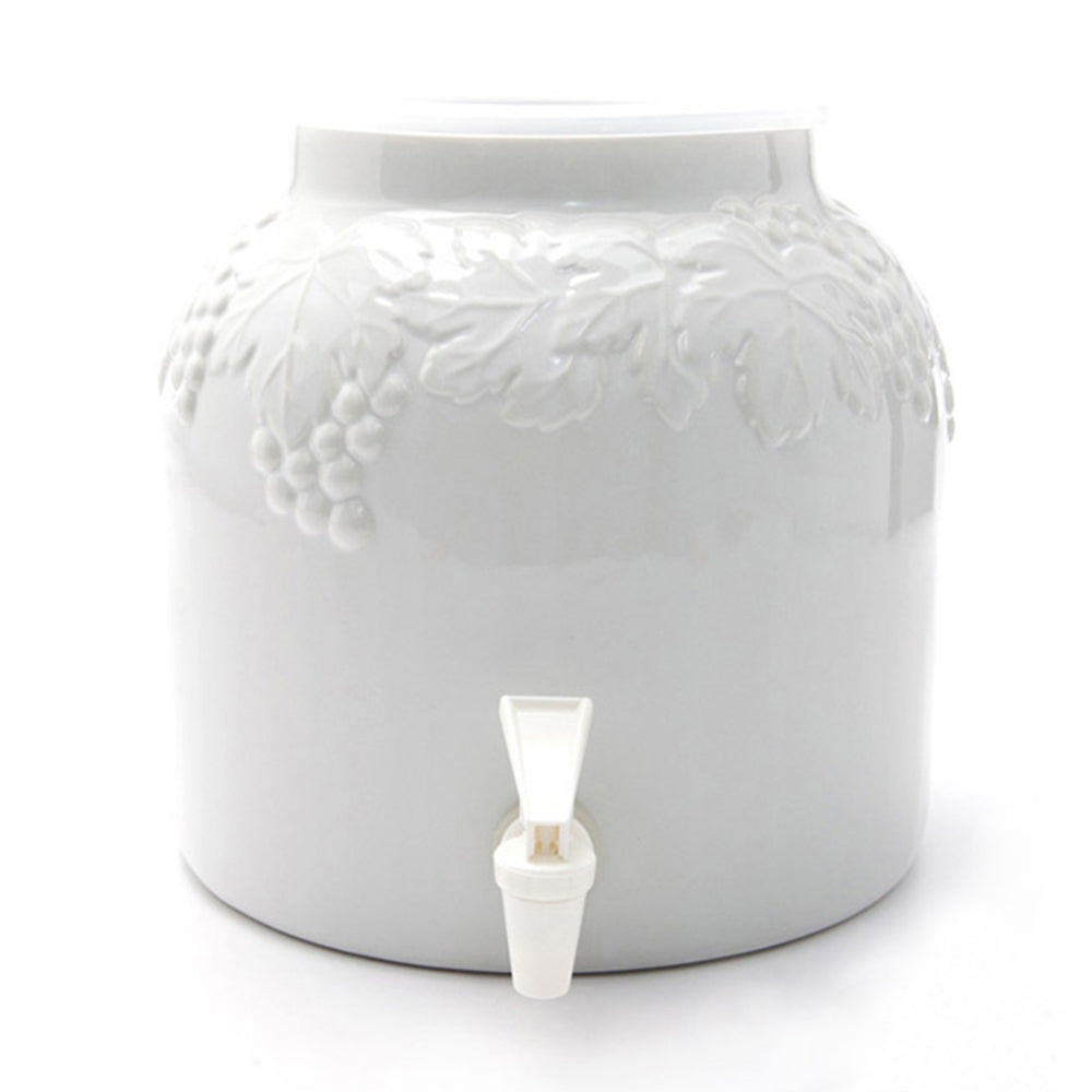 Bluewave Embossed Grape Design Beverage Dispenser Crock