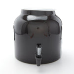 Bluewave Solid Black Design Beverage Dispenser Crock