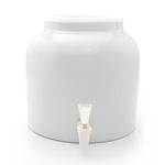 Bluewave Solid White Design Beverage Dispenser Crock