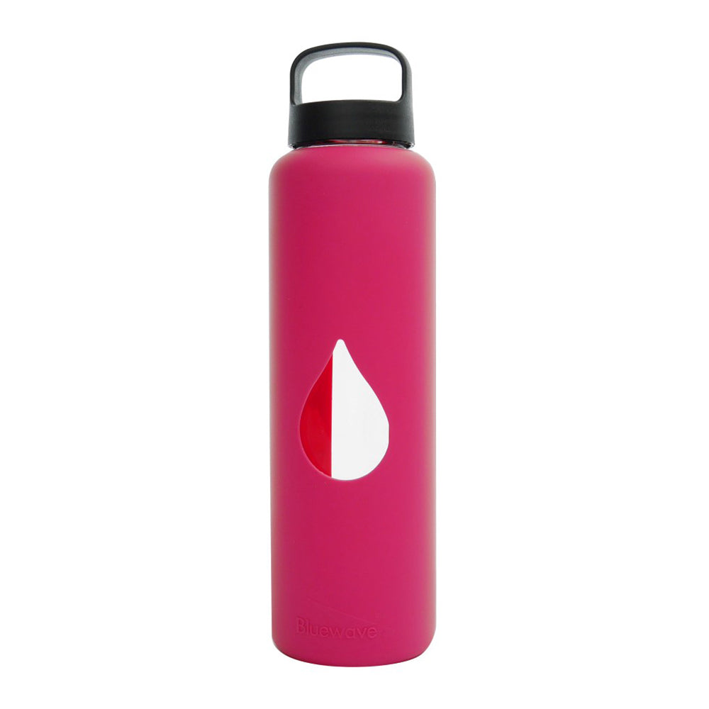 Glass Water Bottle - 750ml / 25oz - Pink