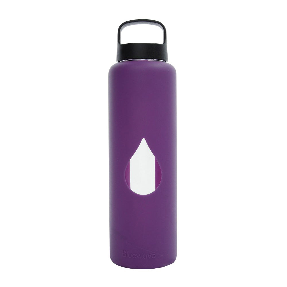Glass Water Bottle - 750ml / 25oz - Purple