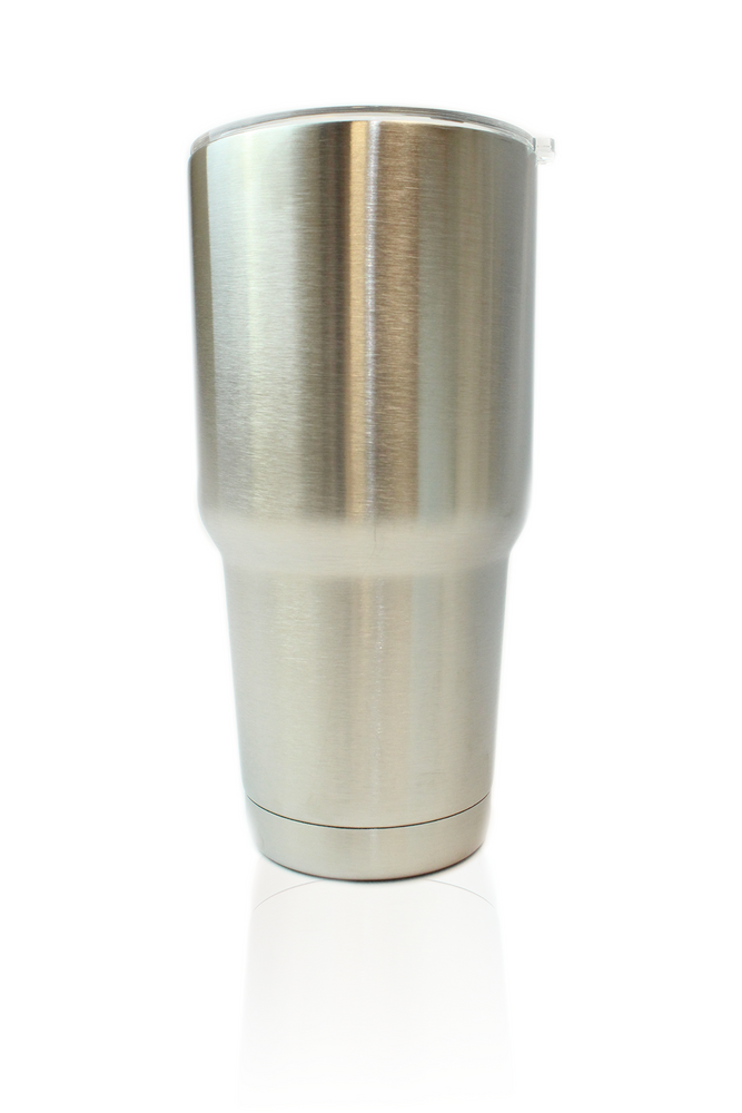 D2 Insulated 30 Oz Tumbler with Straw & Brush - Stainless Steel