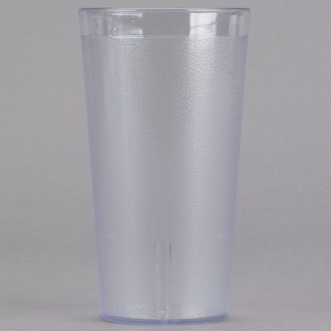 Pebble Design Plastic Tumbler Cup - 475ml | 16 oz Clear, 6 Piece Set