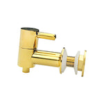 Replacement Dispenser Spigot Faucet Valve - Gold Chrome Steel