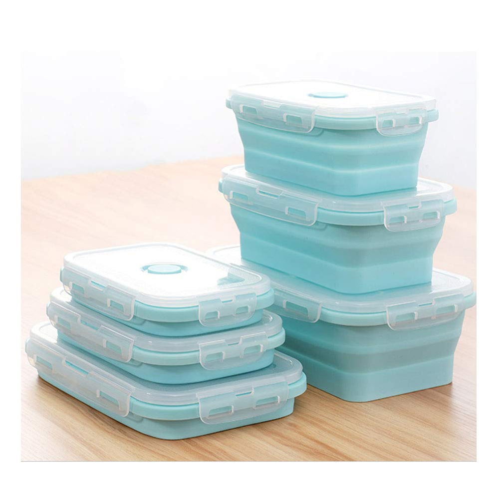 Silicone Food Storage Container - 3 Sets of Different Sizes