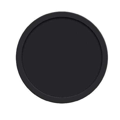 "Silicone Round Drink Coasters - 4"" Inches, Black"