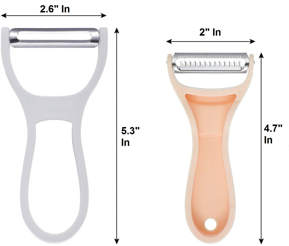 Stainless Steel Peeler with Plastic Handle - 2-in-1