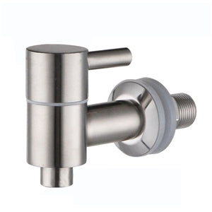 Replacement Dispenser Spigot Faucet Valve - Matte Steel