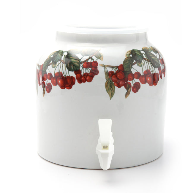 Bluewave Cherry Wrap Design Beverage Dispenser Crock