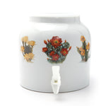 Bluewave Desert Flowers Design Beverage Dispenser Crock
