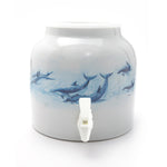 Bluewave Paradise of Dolphins Design Beverage Dispenser Crock