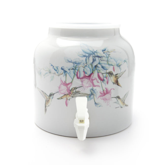 Bluewave Happy Hummingbirds Design Beverage Dispenser Crock