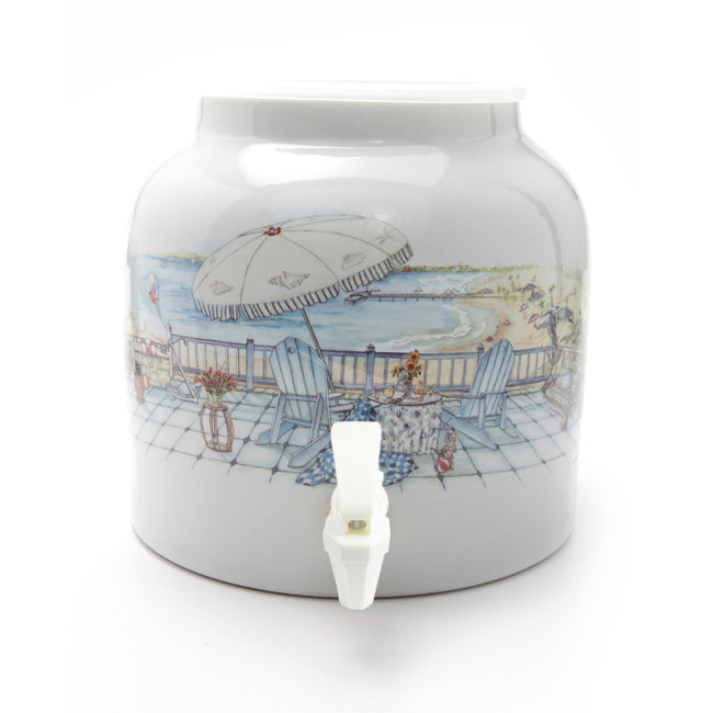Bluewave Unforgettable Vacation Design Beverage Dispenser Crock
