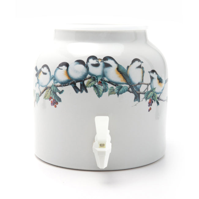 Bluewave Song Birds Design Beverage Dispenser Crock