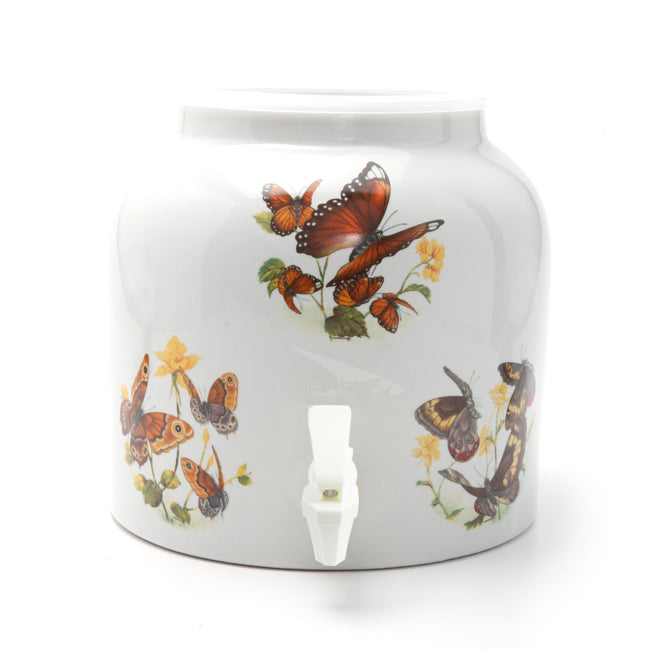 Bluewave Butterfly Design Beverage Dispenser Crock