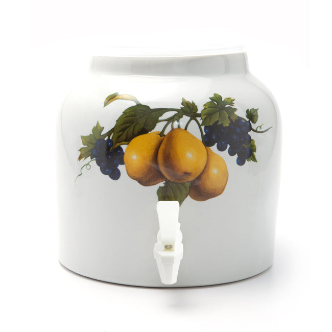 Bluewave Pear Design Beverage Dispenser Crock