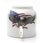 Bluewave Patriotic Eagle Design Beverage Dispenser Crock