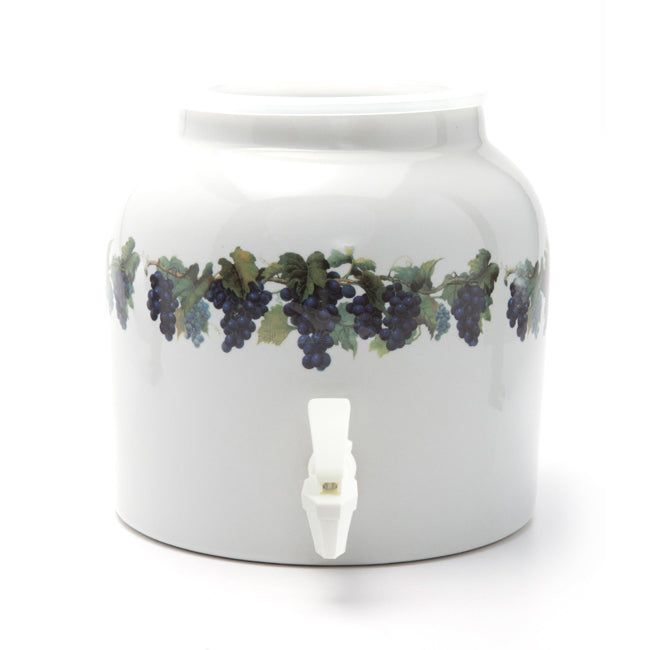 Bluewave Grape Vine Design Beverage Dispenser Crock