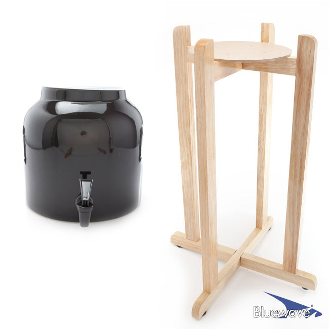Solid Design Beverage Dispenser & Floor Wood Stand