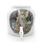 Bluewave Angel Crossing Design Beverage Dispenser Crock