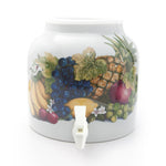 Bluewave Banana & Fruits Design Beverage Dispenser Crock