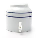 Bluewave Blue Stripe Design Beverage Dispenser Crock