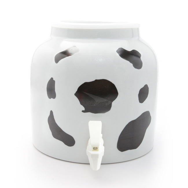 Bluewave Cow Spots Design Beverage Dispenser Crock