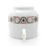 Bluewave Excess Gold Band Design Beverage Dispenser Crock