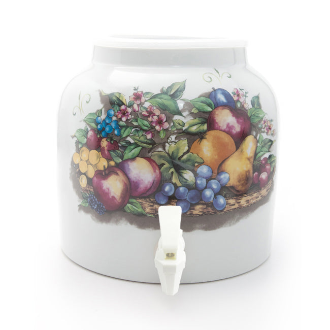 Bluewave Fruit Basket Design Beverage Dispenser Crock