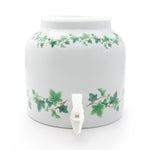 Bluewave Ivy Wrap Design Beverage Dispenser Crock