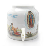 Bluewave La Virgin Guadalupe Design Beverage Dispenser Crock