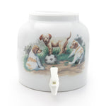 Bluewave Puppies & Ball Design Beverage Dispenser Crock