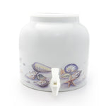 Bluewave Sea Shells Design Beverage Dispenser Crock