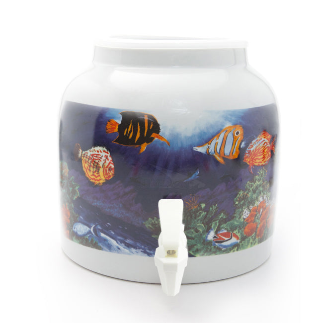 Bluewave Sea World Design Beverage Dispenser Crock