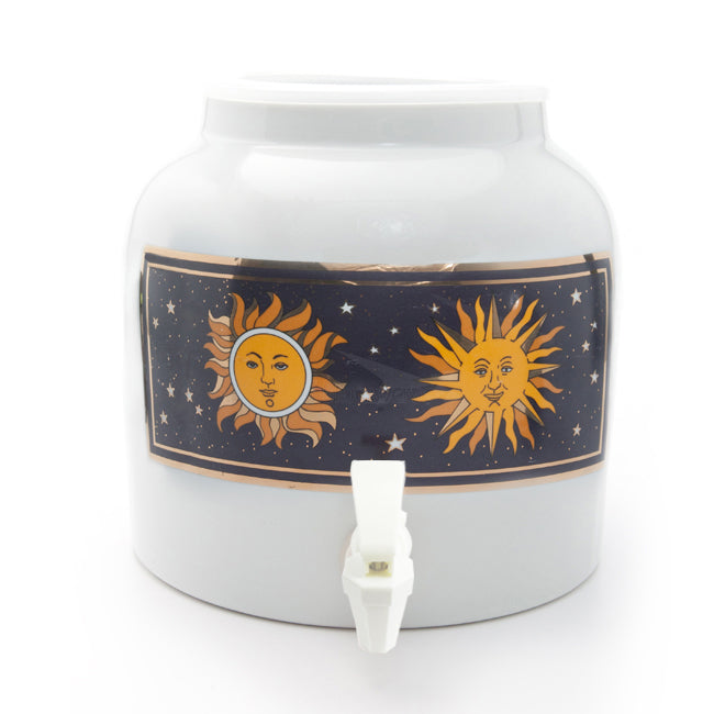Bluewave Sun & Moon Design Beverage Dispenser Crock