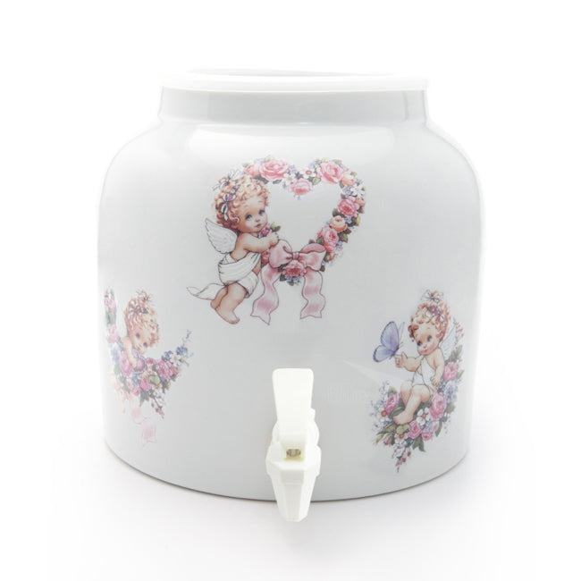 Bluewave Three Angels Design Beverage Dispenser Crock