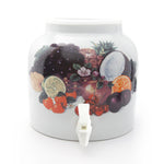 Bluewave Tropical Fruits Design Beverage Dispenser Crock