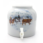 Bluewave Cowboy in Winter Design Beverage Dispenser Crock