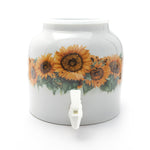 Bluewave Sunflower Blossom Design Beverage Dispenser Crock